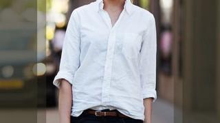 ホワイト・白いシャツの着こなし・レディースコーディネート集