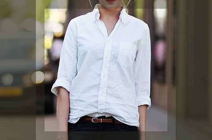 白・ホワイトシャツのコーディネート