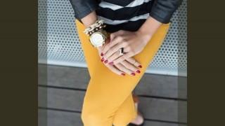 黄色・イエローのカラーパンツの着こなし・コーディネート集