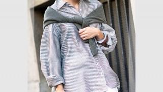カーディガン・セーター、シャツなどの肩掛けコーディネート集