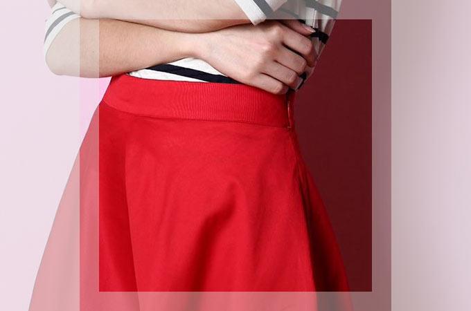 赤いスカートに合う色や合わせ方・着こなし・コーディネート集